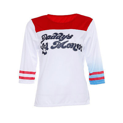 COSPLAY COSTUME DONNA TRAVESTIMENTO SUICIDE SQUAD HARLEY QUINN T-Shirt TAGLIA M