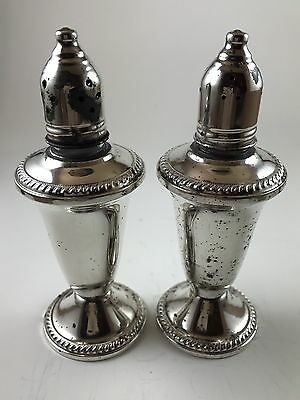 Vintage Weighted Sterling Silver Duchin Creation Salt and Pepper Shakers Set