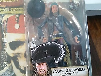 Pirates of the Caribbean - Curse of the Black Pearl - Captain Barbossa MINT SEAL