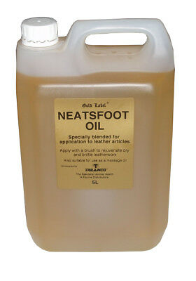 Gold Label Neatsfoot Oil 5lt Horse Riding Leather Care Equine