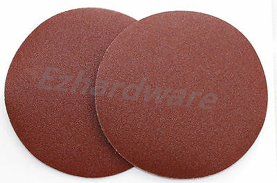 "20PC 7""(180mm)SANDING DISCS SAND PAPER ADHESIVE 60GRIT DRY WALL SANDER"