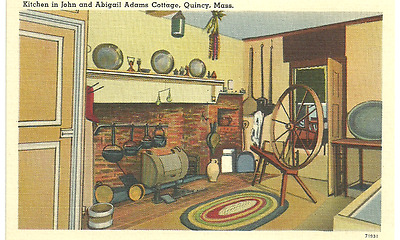 NOS Kitchen in John and Abigail Adams Cottage, Quincy, Mass. Postcard