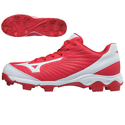 Mizuno Youth 9-Spike Advanced Franchise 9 Low Baseball Cleats - Red/White - 6