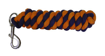 ProTack Protack Lead Rope Trigger Hook Navy/Orange Horse Equine Pony