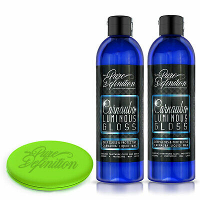 Carnauba Car Wax x 2 High Luminous Gloss Protective Sealant Pure Definition