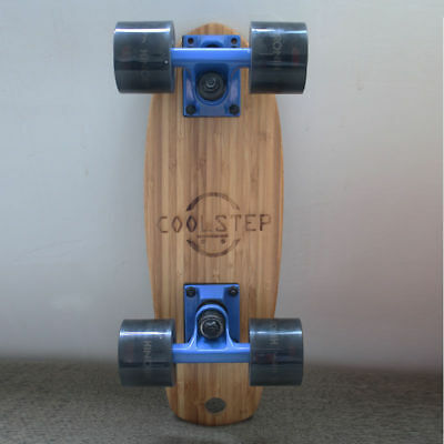 "17"" Mini COOLSTEP Skateboard Retro Bamboo Complete Deck Cruiser Board Style"