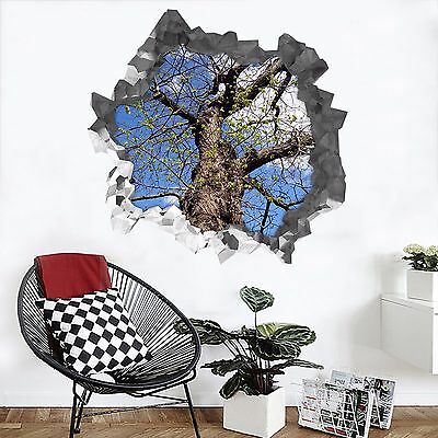 3D Strong Tree 341 Wall Murals Wall Stickers Decal Breakthrough AJ WALLPAPER AU