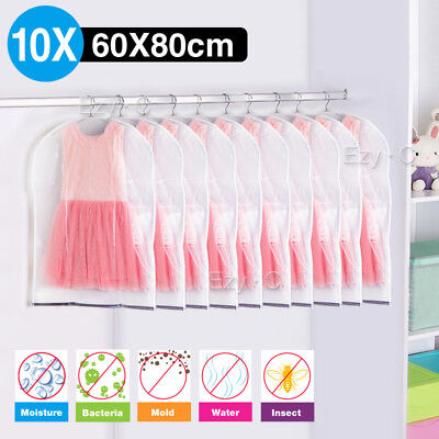 10 X Suit Dress Clothing Dust Cover Bags Jacket Wardrobe Storage Coat Protector