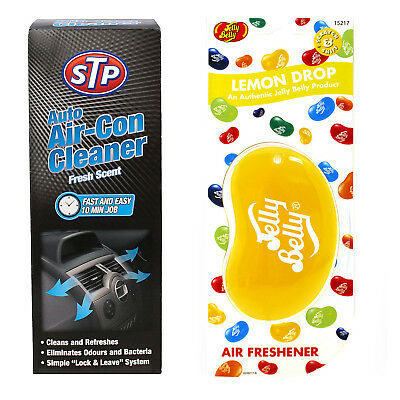 STP Auto Air-Con Cleaner 150ML + Lemon Drop Jelly Belly Air freshener