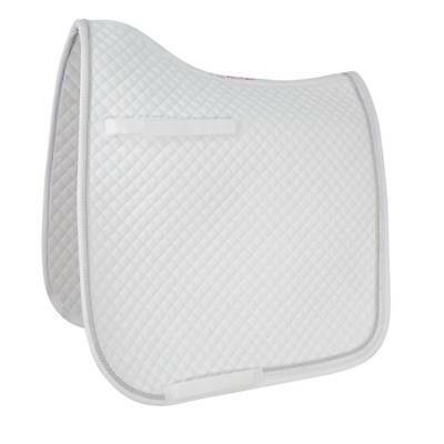 HyWITHER Diamond Touch Saddle Pad - White - Cob/Full - Horse Saddle Covers