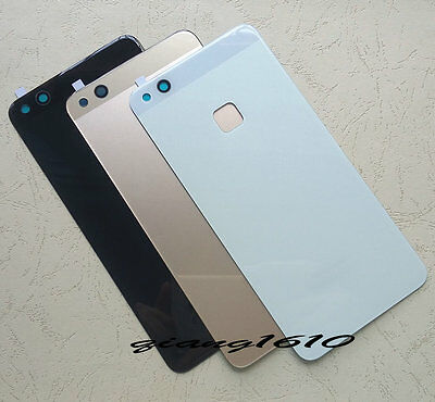Battery Back Cover Rear Door Glass Panel With Adhesive For Huawei P10 Lite