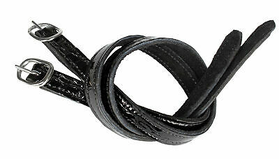 HORKA Croco Patent Leather Spur Straps