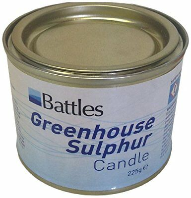 Battles Sulphur Candles 225g Convenient Candles Kill Greenhouse Spores & Pests