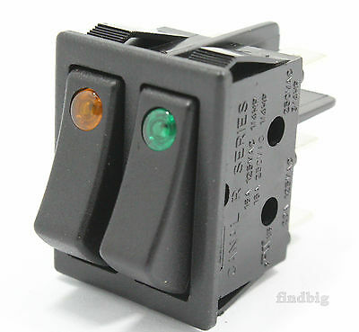 Rocker Switch Electric Space Heater 2 Control Y/G Color 16A 20A 6 Pin Canal
