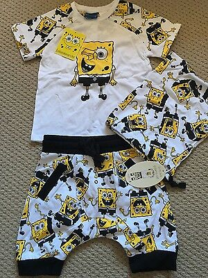 Peter Alexander boys spongebob pyjamas size 2 - new with tags
