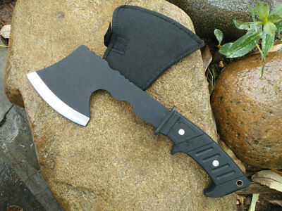 Stone Washed Camping Hunting Knife Tactical Fire Control Ax Hatchet Axe Tomahawk