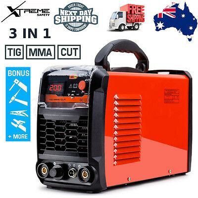 ROSSI Powerful TIG/MMA/CUT 3-in-1 Plasma Portable 8kgs Inverter Welding Machine