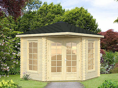 28 mm pavillon eric 400x400 cm gartenlaube gartenhaus. Black Bedroom Furniture Sets. Home Design Ideas