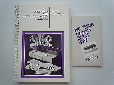 HP 7550A Graphics Plotter Operation and Interconnection Manual w/ Pocket Guide