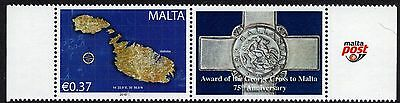 Malta 2017 Se-Tenant St. George's Cross Unmounted Mint