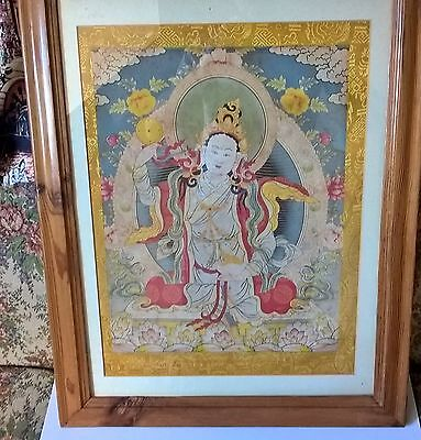 antique silk hand painted tangka
