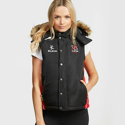 Kukri Ulster Rugby Ladies Gilet 2016-17 (Black and Red) (S35572)
