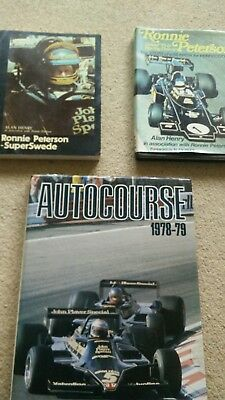 AUTOCOURSE 1978-79 Peterson Ronnie  Kettlewell, Mike 3 formula one books