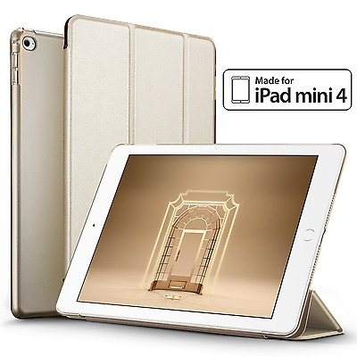 Ultra Slim Leather Magnetic Smart Cover Back Case for Apple iPad Mini 4 | 7.9""