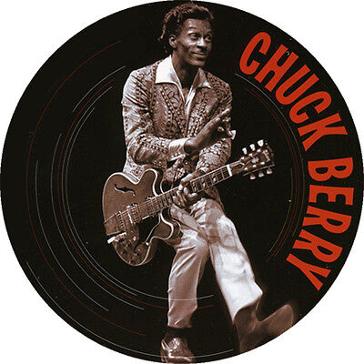 CHAPA/BADGE CHUCK BERRY . pin button keith richards bo diddley buddy holly elvis