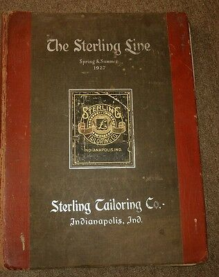 Rare 1927 Sterling Tailoring Catalog Over 250 Material Samples