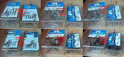 Mustad 3551 and 3553 Classic Treble Hooks, 25 packs, Various Sizes, From Norway