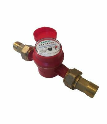DAE AS250U-100R 1 inch Hot Water Meter, Measuring in Gallon + Couplings