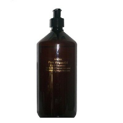 ARGAN OIL 100% PURE CERTIFIED ORGANIC COLD PRESSED 1 LTR.. Face,Body and Hair