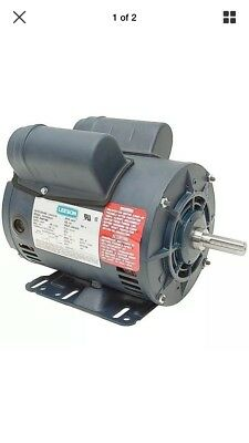 "5 Hp Compressor Motor 230 Volts 3450 Rpm 5/8"" Shaft Special Duty Leeson  116523"