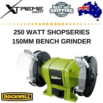 Rockwell ShopSeries Bench Grinder 150mm 250W Eye Shields Included