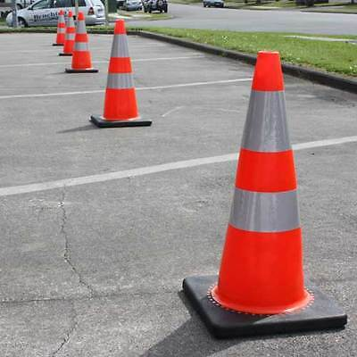 8 Brand New Set 28 inch Traffic Cones Safety Red Sports Reflective Construction