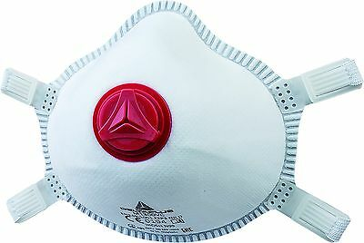 Delta Plus Box Of 5 Moulded Disposable Dust Masks FFP3 Valved Safety (M1300VC)
