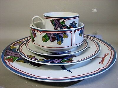 5 pieces Japanese Oriental Peacock tableware / tea set