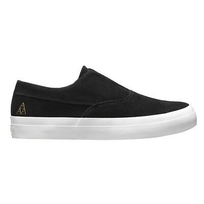 "HUF ""Dylan Slip On"" Sneakers (Black/White) Canvas Skate Skating Low Top Shoes"