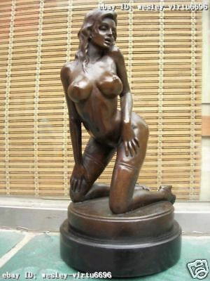 Western Superb Art oomph copper bronze marble nude belle art sculpture statue