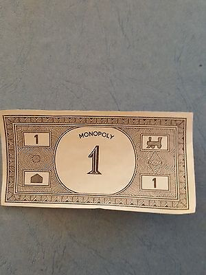 Monopoly Money $1 notes x 4 - Vintage - Parker Brothers