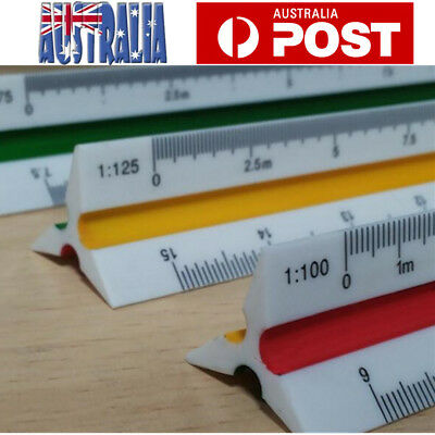 Professional 300mm 1:100~1:500 Triangular Metric Scale Ruler For Engineer