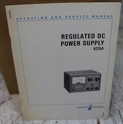 HP 6215A DC Power Supply Operating & Service Manual