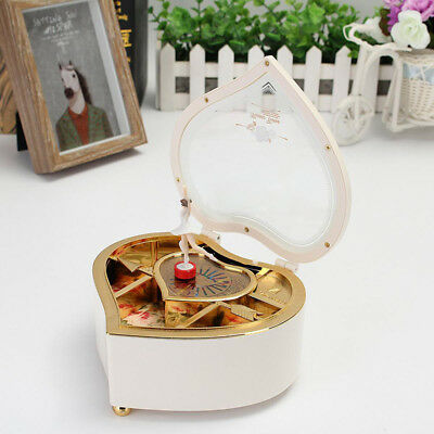 Heart Shaped Jewellery Music Box Ballerina Dancer Classic Musical Toy Gift Decor