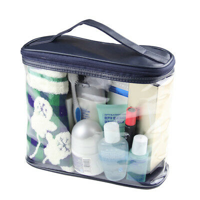 Cosmetic Makeup Toiletry Clear PVC Travel Wash Bag Holder Pouch Set Kit