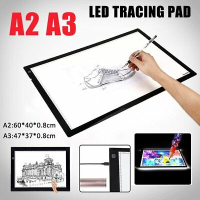 A2 A3 LED Tracing Light Box Stencil Drawing Board Pattern Art Lightbox Pad SHIP