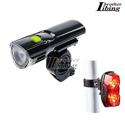 Bike Bicycle Cycling MTB LED Flash Headlight Front Lights Rear Tail Safety Lamp