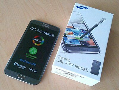 Samsung Galaxy Note 2 II GT-N7100 - 16GB - Black (Unlocked) Smartphone mobile