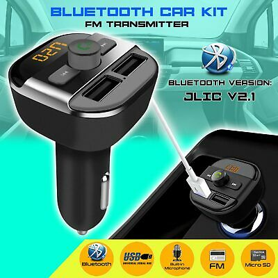 Wireless Bluetooth FM Transmitter Car Dual USB Charger MP3 Player Handsfree Call