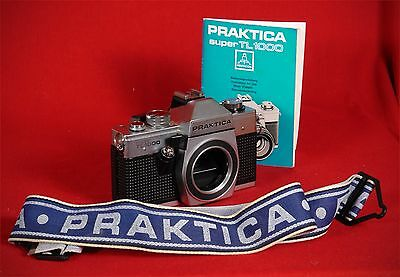 GERMAN MADE Vintage Praktica super tl1000 camera body bundle